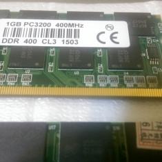 Memorie Laptop DDR1 400 1GB RAM Micron Technology Sodimm PC3200 - Memorie RAM laptop Micron, 400 mhz