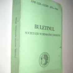 BULETINUL SOCIETATII NUMISMATICE ROMANE 1976-1980