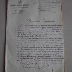 DOCUMENT SEMNAT OLOGRAF DE PRIMARUL BUCURESTIULUI, 1898 - Brevet