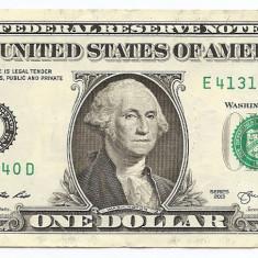 Statele Unite (SUA) 1 Dolar 2013 ( E - Richmond VA ) 41314640 P-New - bancnota america