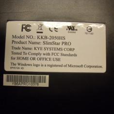 Tastatura PC Genius Slim Star PRO Model KKB-2050HS German, Standard, Cu fir, USB