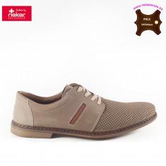 Pantofi barbati piele naturala RIEKER bej (Marime: 43)