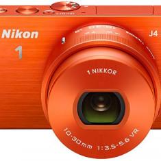 Nikon 1 J4 18, 4MP ORANGE NIKKOR VR 10-30mm f/3.5-5.6 SLR Camera Foto Mirrorless - Aparat Foto Mirrorless Nikon, Kit (cu obiectiv), 18 Mpx
