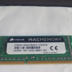Memorie RAM DDR3 laptop CORSAIR 8 GB 1Rx8 PC3 10600 la 1330 Mhz - Memorie RAM laptop