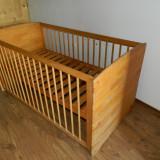 Patut din lemn cu saltea pentru copii - Patut lemn pentru bebelusi MyKids, Alte dimensiuni