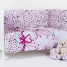 """BEBEDECO – Lenjerie pentru patut """"PISICUTA KITTY""""- 3 piese - Lenjerie pat copii"""