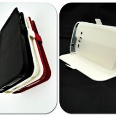 Toc FlipCover Stand Magnet Vodafone Smart Prime 7 ALB - Husa Telefon