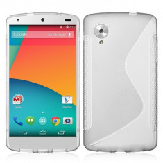 Husa silicon lg nexus 5 - alb - Husa Telefon, Universala, Transparent