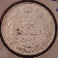 250 lei 1941 AUNC - Moneda Romania, Argint