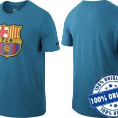 Tricou barbat Nike FC Barcelona - tricou original - Tricou barbati Nike, Marime: M, Culoare: Albastru, Maneca scurta, Bumbac