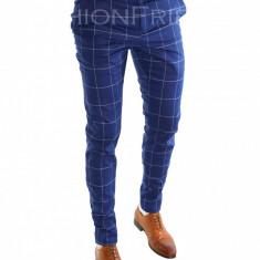Pantaloni tip ZARA bleumarin -pantaloni barbati -pantaloni office - 6833, Marime: 50, 46, 52, 48, 54, Culoare: Din imagine