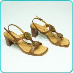 Sandale dama, DIN PIELE, comode, aerisite, frumoase, COMMA _ femei | nr. 40, Culoare: Din imagine, Piele naturala