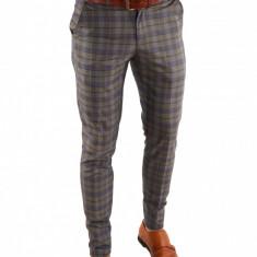 Pantaloni tip ZARA carouri - pantaloni barbati - pantaloni office - 6841, Marime: 50, 46, 52, 48, 54, Culoare: Din imagine