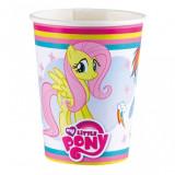 8 Pahare carton 266ml My Little Pony Rainbow