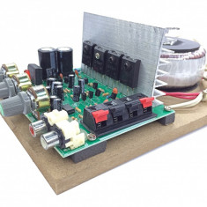 Amplificator audio AC-AMP (2 x 60W) cu traf toroidal - Amplificator auto, 81-120W
