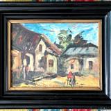 Tablou – Gospodarie – ulei pe placaj panzat – semnat Rudolf Schweitzer-Cumpana - Pictor roman, Scene gen, Altul