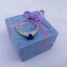 Inel dama argint 925 safir model Little Blue - Inel argint