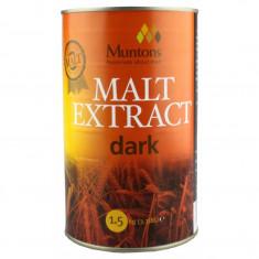 Muntons Extra Dark Plain Malt Extract 1.5 kg - pentru bere de casa, Bruna