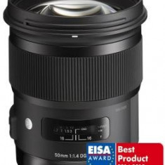 Obiectiv DSLR - Pachet Sigma 50mm f/1.4 DG HSM Art, obiectiv foto Canon + Kata R-104 rucsac foto + B+W filtru UV 77mm