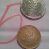 Monede Romania - 3 BANI 1952+ CADOU 25 BANI 1952 /5