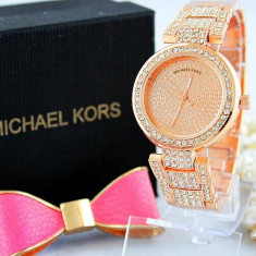 Ceas Luxury Michael Kors Diamond MK-1 Bratara Cristale Dama Rozaliu 3 CULORI - Ceas dama, Lux - elegant, Quartz, Inox, Cronograf