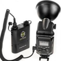 Blitz dedicat - Pachet Genesis Reporter 360 kit blitz cu acumulator + Genesis Reporter Navigator kit declansator wireless