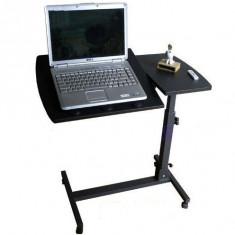 Masuta reglabila pentru laptop - structura metalica si blat din lemn - Masa Laptop