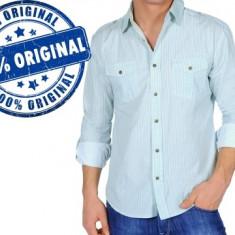 Camasa barbat Luca - camasa originala - Camasa barbati Luca, Marime: L, Culoare: Bleu, Maneca lunga