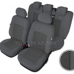 Huse Auto - Set huse scaune auto Poseidon culoare Gri pentru Daewoo Matiz Fata + Spate