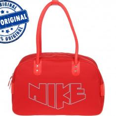 Geanta Nike Heritage - geanta originala - Geanta Dama Nike, Culoare: Rosu, Marime: Masura unica, Geanta umar manere scurte, Nilon