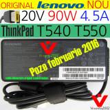 NOU ORIGINAL Lenovo alimentator 90W 20V 4.5A _ ThinkPad T540 T550 E550 + cablu