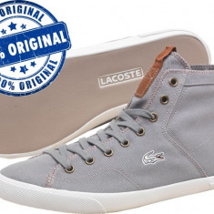 Adidasi barbat Lacoste Ramer Mid - tenisi originali - adidasi panza - Tenisi barbati Lacoste, Textil