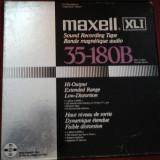 Banda magnetofon Maxell XLI 35-108B rola metalica aluminiu nab