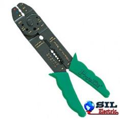 """Cleste sertizare - Cleste sertizat papuci electrici 8"""" Pro'sKit"""