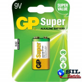 Baterie alcalina 9V 1 buc/blister Super GP