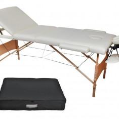 Masa masaj - Masa de masaj, pat cosmetica 3 zone pliabil si portabil+husa