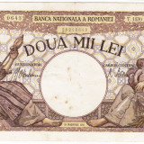 4)Bancnota 2000 lei 18 noiembrie 1941, filigran Traian, VF