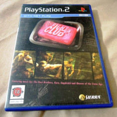 Joc Fight Club, PS2, original, 24.99 lei(gamestore)! - Jocuri PS2 Sierra, Actiune, 18+, Multiplayer