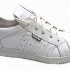 Pantofi barbati sport - casual alb din piele naturala - Adidasi piele
