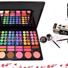 Trusa Machiaj 78 culori cu ruj si blush Fraulein38 + Eyeliner Gel 2 culori CADOU - Trusa make up