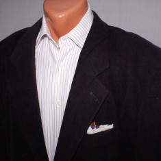 Sacou barbati HUGO BOSS Vintage mov inchis marimea 54 material reiat, 3 nasturi, Marime sacou: 54, Normal, Bumbac