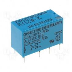 RELAY DPDT 12V 1A/24VDC PCB - Releu