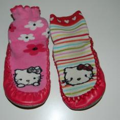 Ciorapi Copii - Ciorapi, ciorapei cu talpa antiderapanta, marimea 26-27, Hello Kitty- Sanrio