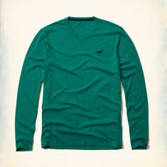 Bluza Hollister by Abercrombie & Fitch mas XL-LICHIDARE STOC - Bluza barbati, Culoare: Verde