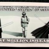Bancnota Straine, America de Nord, An: 2013 - SUA 2013 Anakin Skywalker Darth Vader Star Wars One Million Dollar UNC **
