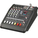 MIXER PROFESIONAL AMPLIFICAT, 200 WATT, 4 CANALE, MP3 USB, EFECTE VOCE, SUNET HI FI. - Amplificator audio, peste 200W
