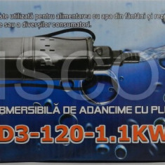 Pompa apa de mare adancime Micul Fermier 120m 1.1 Kw cu plutitor submersibila - Pompa gradina, Pompe submersibile, de drenaj