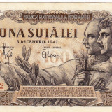 Bancnota 100 lei 5 decembrie 1947 XF/a.UNC (2), An: 1947