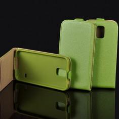 Husa Samsung Galaxy Trend Lite S7390 S7392 Flip Case Inchidere Magnetica Verde - Husa Telefon Samsung, Verde, Piele Ecologica, Cu clapeta, Toc