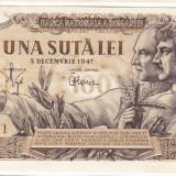 Bancnota 100 lei 5 decembrie 1947 XF/a.UNC (3)